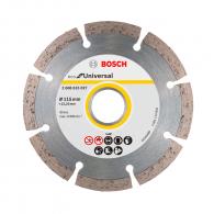 Диск диамантен BOSCH ECO for Universal 115x2.0x22.23мм, за бетон, гранит, тухла и естествен камък, сухо рязане