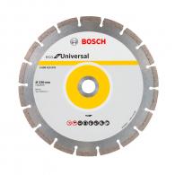 Диск диамантен BOSCH ECO for Universal 230x2.0x22.23мм, за бетон, гранит, тухла и естествен камък, сухо рязане