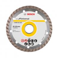 Диск диамантен BOSCH ECO for Universal 125x2.4x22.23мм, за бетон, гранит, тухла и естествен камък, сухо рязане