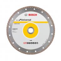 Диск диамантен BOSCH ECO for Universal 230x3.0x22.23мм, сухо рязане, за бетон, гранит, тухла и естествен камък, сухо рязане