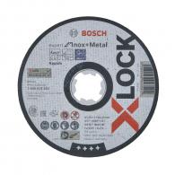 Диск карбофлексов BOSCH X-LOCK for Metal Inox 125х1.0х22.23мм, за рязане на неръждаема стомана и метал