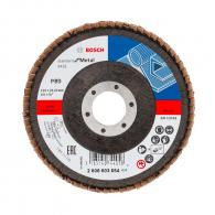 Диск ламелен BOSCH Standard for Metal 115х22.23мм P80, за шлайфане на метал, камък, дърво и пластмаса