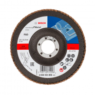 Диск ламелен BOSCH X431 125x22.23 P80, за шлайфане на метал и стомана