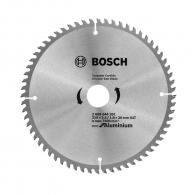 Диск с твърдосплавни пластини BOSCH Eco for Aluminum 210/2.4/30 Z=64, за рязане на алуминий