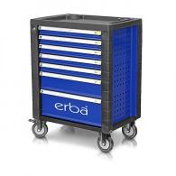 Количка за инструменти с чекмеджета ERBA, с 7-чекмеджета, без инструменти, 710х465х930мм