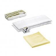 Микрофибърни кърпи за баня KARCHER, 2 x кърпи за под, 1 x полираща кърпа, 1 x абразивен калъф за ръчна дюз