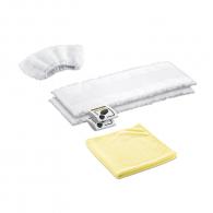 Микрофибърни кърпи за кухни KARCHER, 2 x кърпи за под, 1 x почистваща кърпа, 1 x мек калъф за ръчна дюза