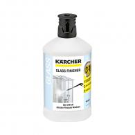Препарат за финално почистване на стъкло 3-в-1 KARCHER 1л, подходящ за големи и труднодостъпни остъклени повърхности