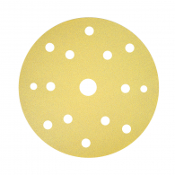 Шкурка велкро BOSCH C450 150мм Р100 50бр, универсална, с 15 отвора, жълта, самозалепваща
