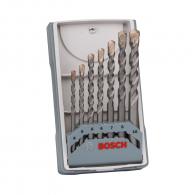 Свредла BOSCH CYL-3 4.0-10.мм 7части, за бетон, HM, 2 режещи ръбa, цилиндрична опашка