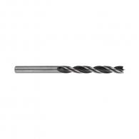 Свредло за дърво BOSCH 6х93/57мм, CV-стомана, 2 режещи ръба, цилиндрична опашка