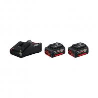 Батерия акумулаторна BOSCH GBA 18V 4.0Ah + GAL 18V-40, 18V, 4.0Ah, Li-Ion, к-кт