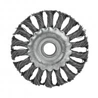 Четка дискова RAIDER ф100мм/М14, за ъглошлайф, плоска, плетена