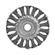 Четка дискова RAIDER ф150мм/М14, за ъглошлайф, плоска, плетена