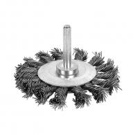 Четка дискова RAIDER ф75мм, за бормашина, плоска, стоманена