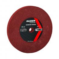 Диск абразивен прав RAIDER 72х20х10мм G400 - червен, за шлайфане, G400
