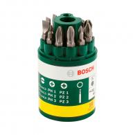 Комплект накрайници BOSCH 10 части, PH, PZ, SB с магнитен държач