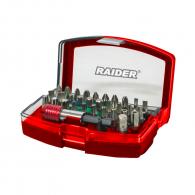 Комплект накрайници RAIDER 32части, PH, PZ, SB, ТХ, шестостен с магнитен държач