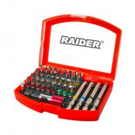 Комплект накрайници RAIDER 42части, PH, PZ, SB, ТХ, шестостен с магнитен държач