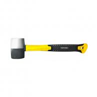 Чук гумен TOPMASTER 0.450кг, с гумирана дръжка от фибростъкло, черен и бял каучук