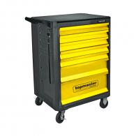 Количка за инструменти с чекмеджета TOPMASTER 161 части, с 7-чекмеджета, комплект инструменти