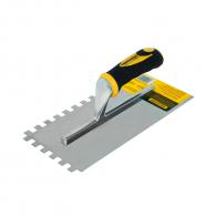 Маламашка за лепило TOPMASTER 10х10, 280х120мм, назъбена, неръждаема стомана, пластмасова дръжка