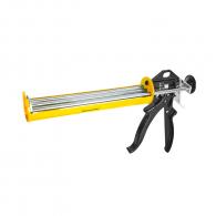 Пистолет за силикон TOPMASTER 229мм, жълт, метален