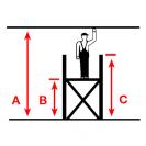Скеле алуминиево KRAUSE Stabilo 10/250 H=3.0м, 2000х700мм, 200кг/кв.м, с колела - small, 163173