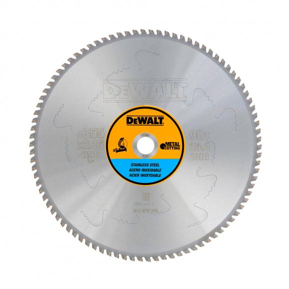 Диск с твърдосплавни пластини DEWALT DT1922 355/2.15/25.4 Z=80, за неръждаема стомана