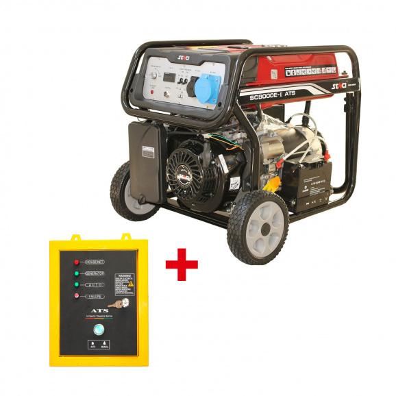 Генератор SENCI SC8000-ATS TOP, 7kW, 230V, бензинов, монофазен ATS,AVR