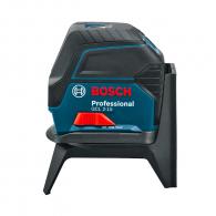 Линеен лазерен нивелир BOSCH GCL 2-15 Professional, 2 лазерни линии, 2 точки, точност 3mm/15m, автоматично