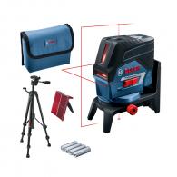 Линеен лазерен нивелир BOSCH GCL 2-50 C Pro, 2 лазерни линии, 2 точки, точност 3mm/10m, автоматично