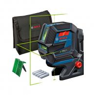 Линеен лазерен нивелир BOSCH GCL 2-50 G, 2 лазерни линии, 2 точки, точност 3mm/10m, автоматично
