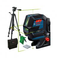 Линеен лазерен нивелир BOSCH GCL 2-50 G Pro, 2 лазерни линии, 2 точки, точност 3mm/10m, автоматично
