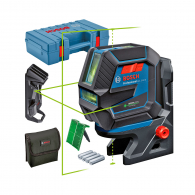 Линеен лазерен нивелир BOSCH GCL 2-50 G Professional, 2 лазерни линии, 2 точки, точност 3mm/10m, автоматично