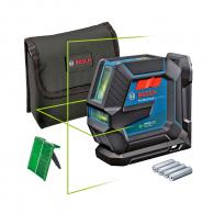 Линеен лазерен нивелир BOSCH GLL 2-15 G, 2 лазерни линии, точност 3mm/10m, автоматично
