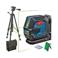 Линеен лазерен нивелир BOSCH GLL 2-15 G Pro, 2 лазерни линии, точност 3mm/10m, автоматично