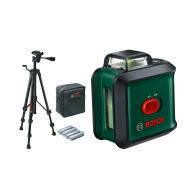 Линеен лазерен нивелир BOSCH UniversalLevel 360, 2 лазерни линии, точност 4mm/10m, автоматично