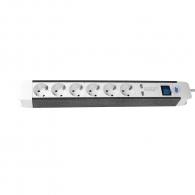 Разклонител AS SCHWABE 6гнезда/1.5м с ключ, с кабел 1.5м х1.5мм2, с USB портове