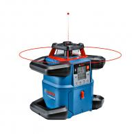 Ротационен лазерен нивелир BOSCH GRL 600 CHV Professional, червен лазер клас 2, обхват 600m, точност 1.5mm/10m, автоматично
