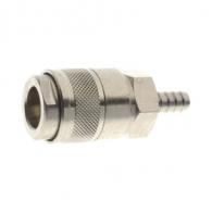 Куплунг бърза връзка AIGNEP ф12мм, за маркуч, месинг с никелирано покритие