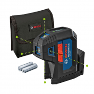 Лазерен 5-точков нивелир BOSCH GPL 5 G Professional, 5 лазерни диода, точност 3.5mm/10m, автоматично
