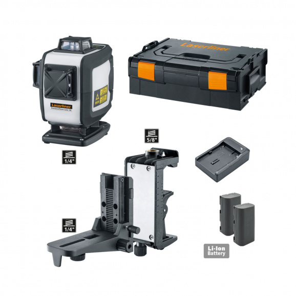 Линеен лазерен нивелир LASERLINER PrecisionPlane-Laser 4G Pro, 3 лазерни линии, точност 1.5mm/10m, автоматично, Bluetooth