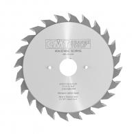 Диск подрезвач с твърдосплавни пластини CMT 100/2.8-3.6/20 Z=10+10, за рязане на единична или двустранни ламинирани плоскости