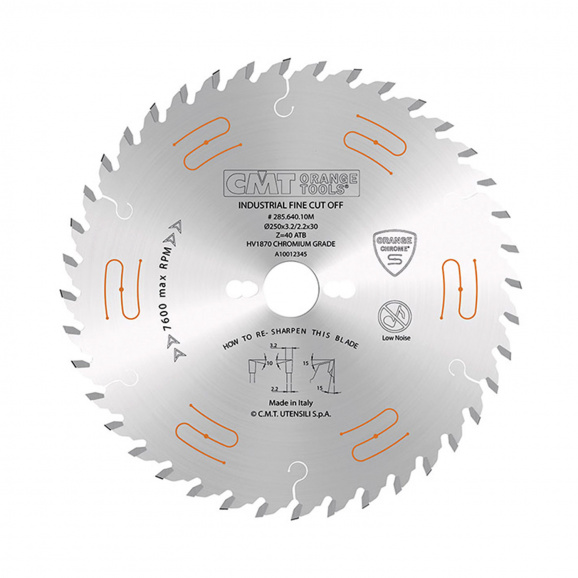 Диск с твърдосплавни пластини CMT CHROME 300/3.2/30 Z=48, за рязане на мека и твърда дървесина, дървесни плоскости