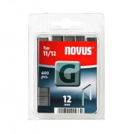 Кламери NOVUS 11/12мм 600бр., тип 11/G, плоска тел, блистер