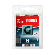 Кламери NOVUS 11/14мм 600бр., тип 11/G, плоска тел, блистер
