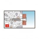 Дюбел пирон KEW NDS 8x140мм, със скосена периферия, 75бр. в кутия - small, 138347