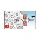 Дюбел пирон KEW NDS 8x160мм, със скосена периферия, 75бр. в кутия - small, 138353