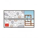 Винт за директен монтаж 7.5х152мм, за бетон, самонарезен, 100бр. в кутия - small, 138166